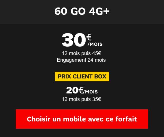 forfait 60 Go de SFR