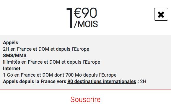 Syma Mobile forfait pas cher à 2€/mois.