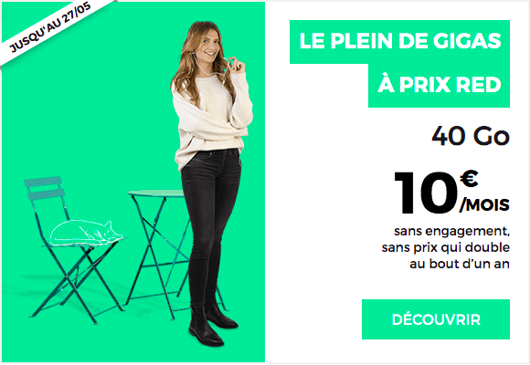 la promotion principale de RED by SFR