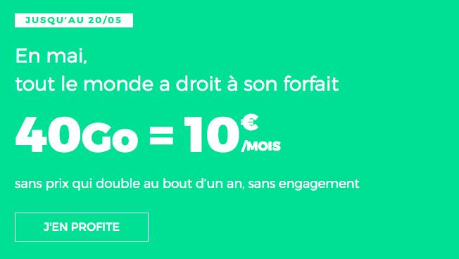 Forfait 4G en promo chez RED by SFR.