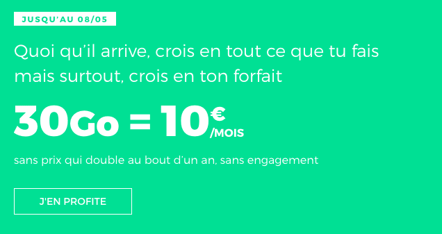 Forfait mobile en promotion chez RED by SFR.