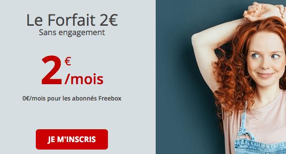 Free promo forfait 2€.