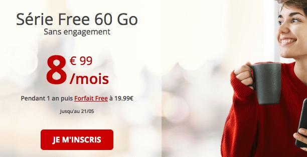 Promotion forfait mobile 4G pas cher.
