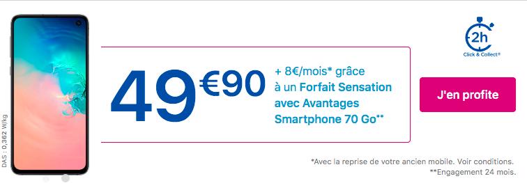 promotion sur le Samsung Galaxy S10e