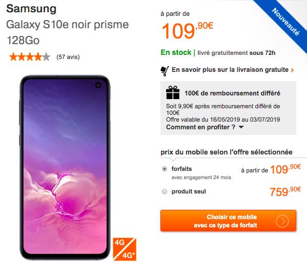 Galaxy S10e Orange