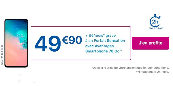 Promo smartphone chez Bouygues Telecom.