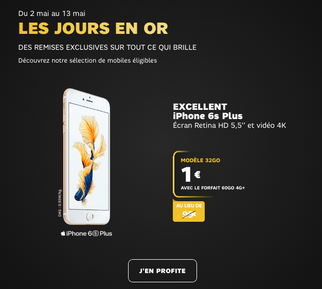 promotion de SFR iphone