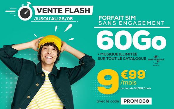 60 Go de 4G disponible avec le forfait promo de La Poste Mobile