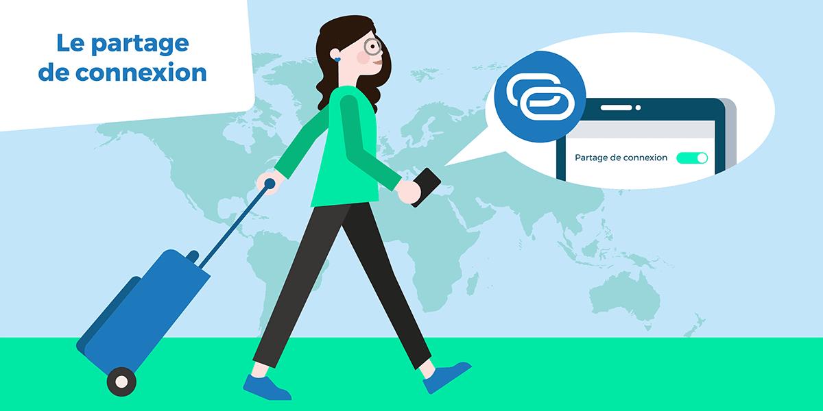 Partage de connexion étranger