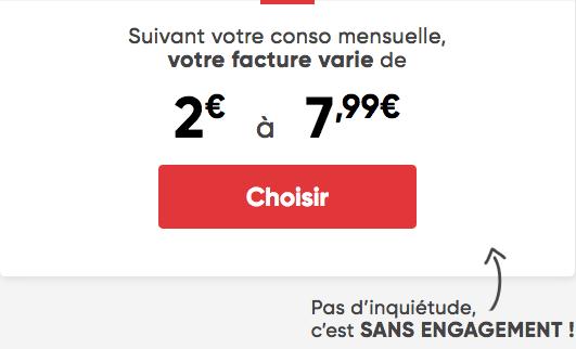 Prixtel forfait mobile dès 2€ par mois.