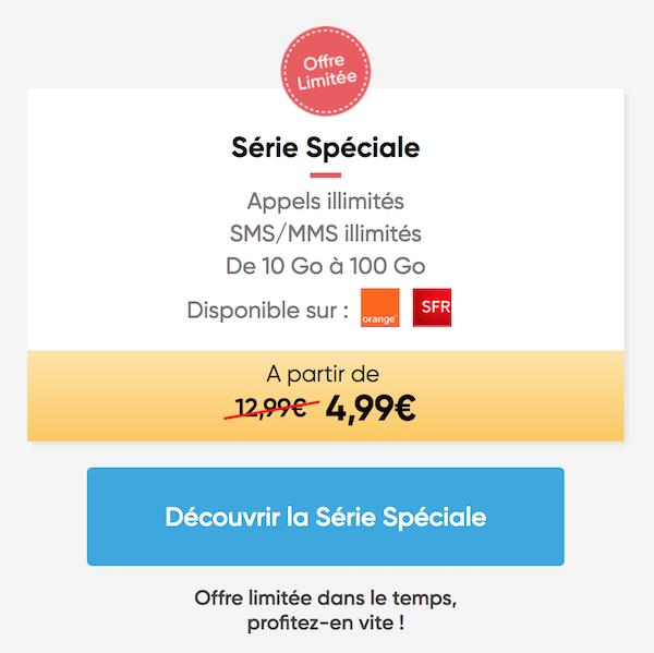 Forfait Prixtel à moins de 5 euros par mois