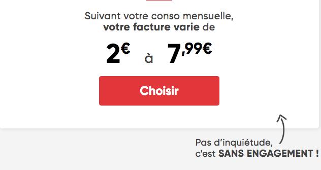 Prixtel promo forfait ajustable dès 2€.