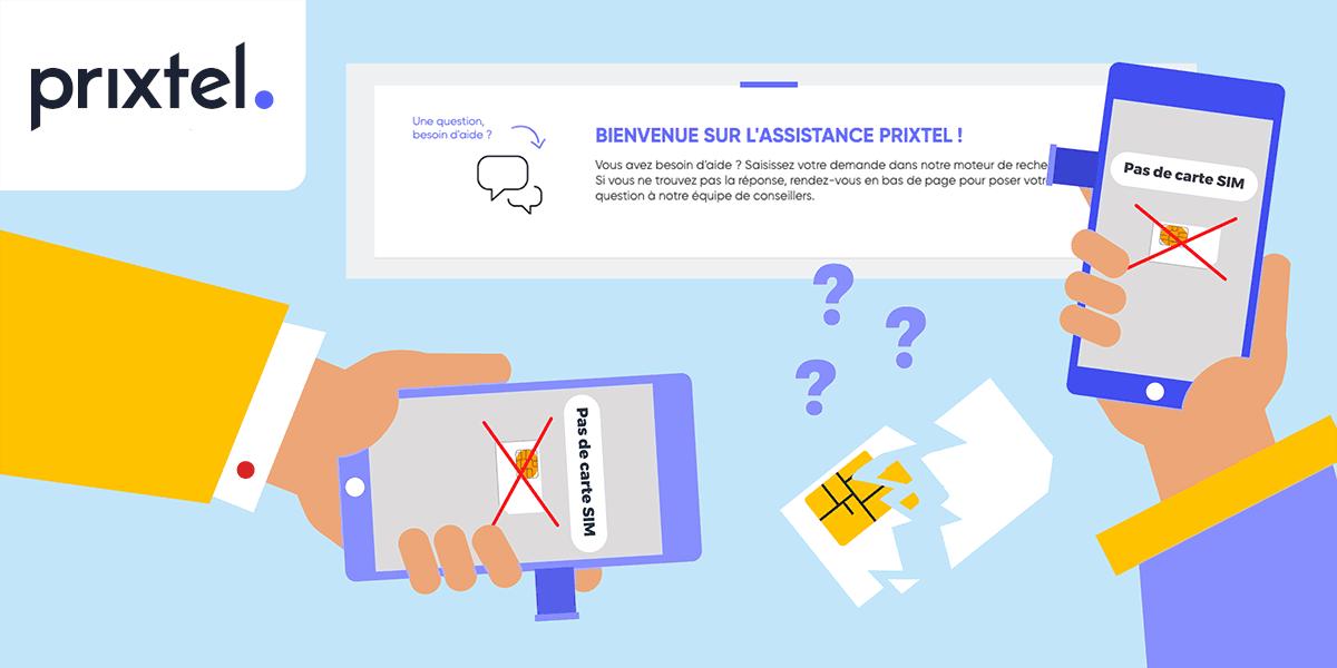 Problème de carte SIM Prixtel.
