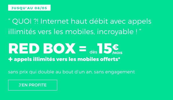Box internet RED by SFR en promo.
