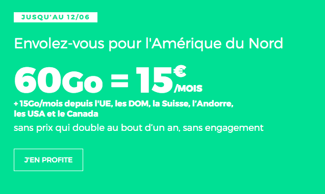 Promotion RED by SFR forfait mobile Europe.