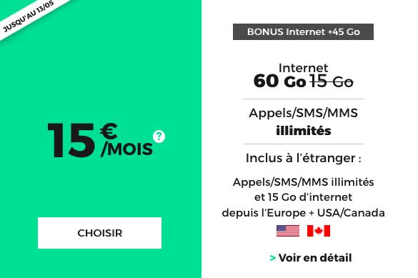 Forfait mobile à bas prix de RED by SFR
