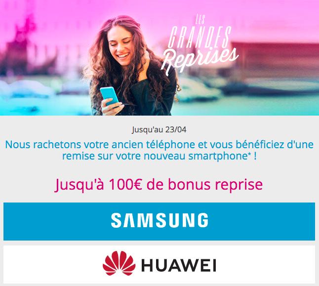 Samsung et Huawei en reprises