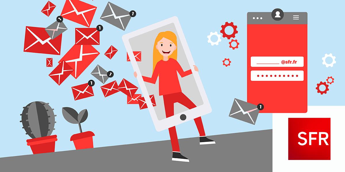 Paramétrage email SFR sur téléphone