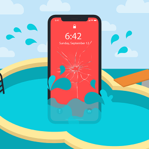 Téléphone dans l'eau