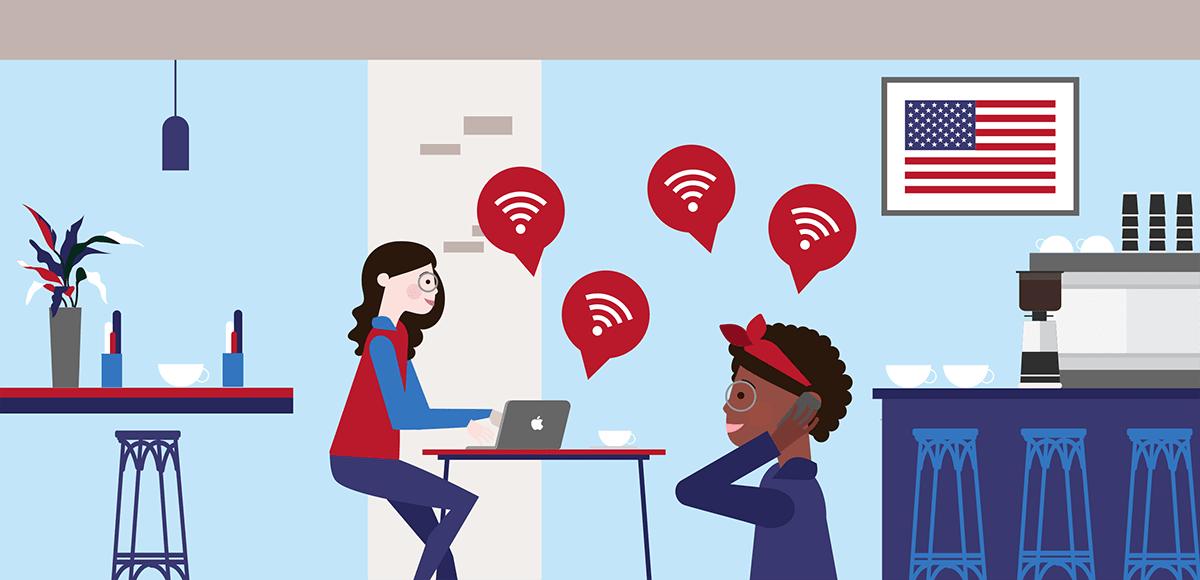 WiFi aux Etats-Unis