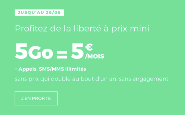 5 Go pour 5€ chez RED by SFR