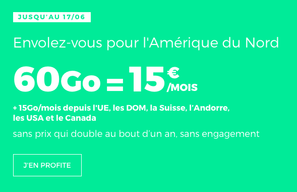 le forfait Europe à 15€ de RED by SFR