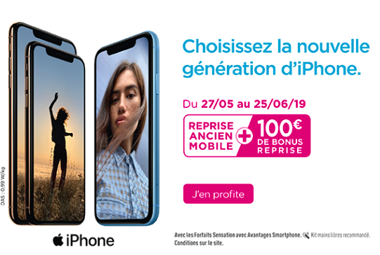 Les bonus reprise iPhone