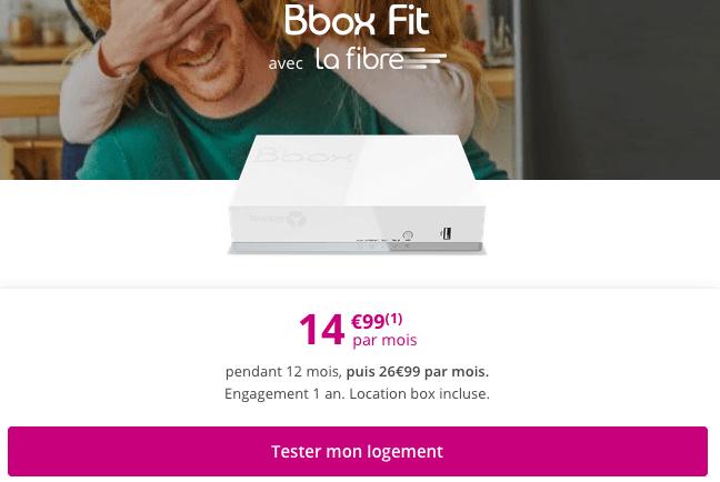 Box internet fibre optique ou ADSL pas chère.