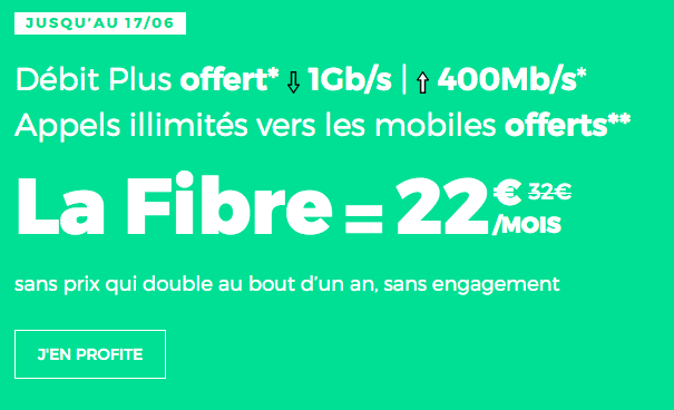 Box internet fibre optique en promo chez RED by SFR.