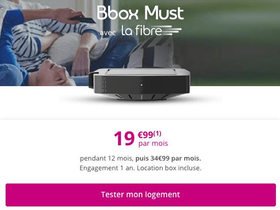 Box internet fibre optique pas chère chez Bouygues Telecom.