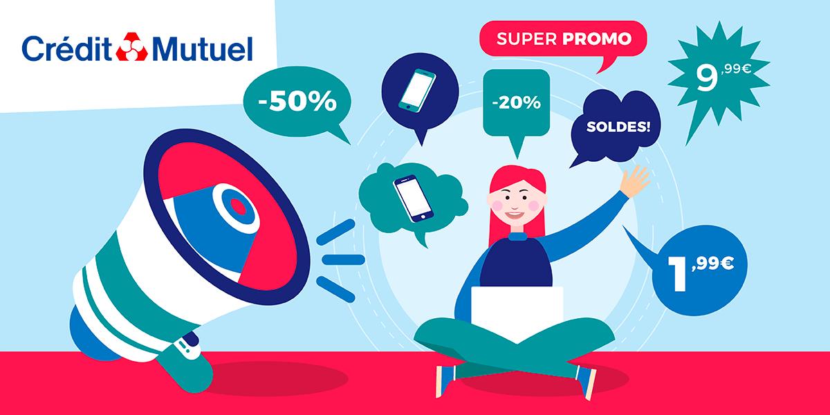 Promos Crédit Mutuel Mobile