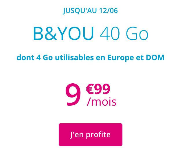 le forfait 4G de B&YOU