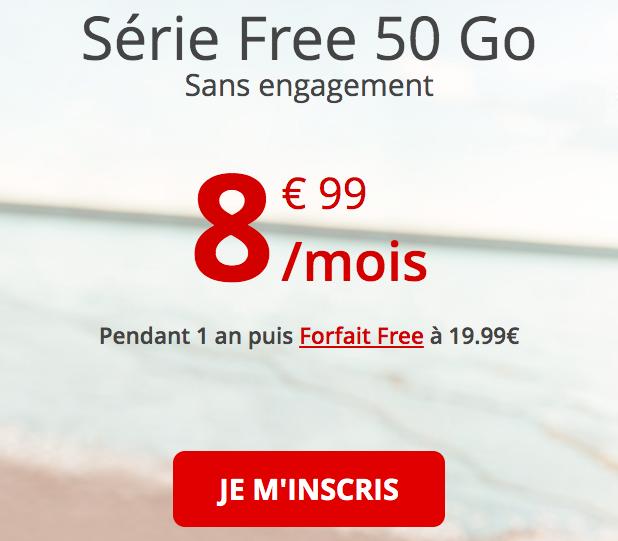 le forfait pas cher de Free mobile