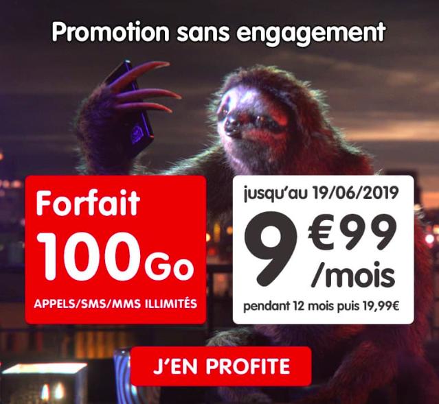 le forfait en promotion NRJ Mobile