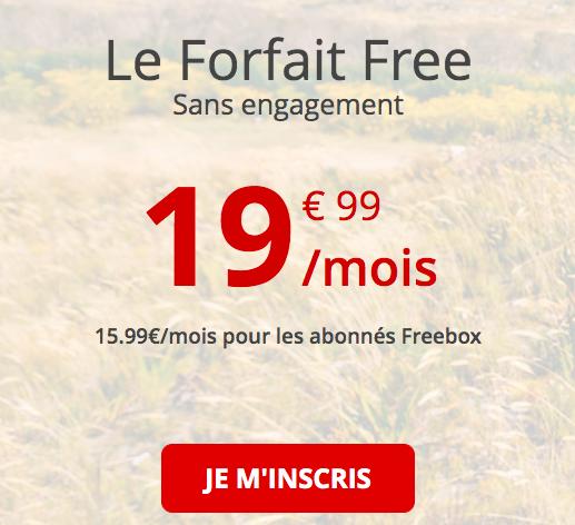le forfait 4G de Free