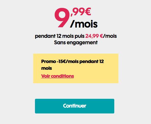 Abonnement mobile en promotion chez Sosh.