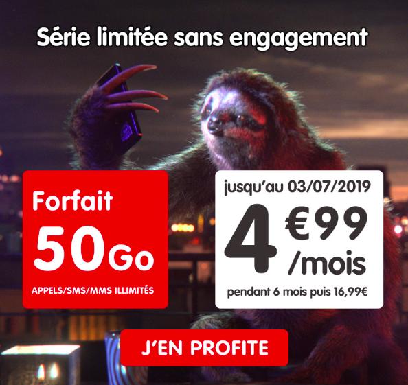 le forfait 4G de NRJ Mobile