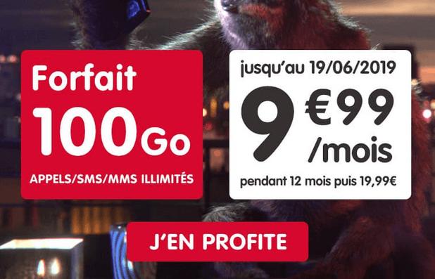 NRJ mobile forfait pas cher 100 Go data.