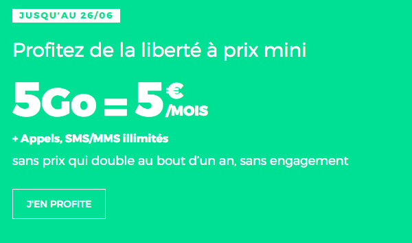 Forfait mobile RED by SFR promotion.