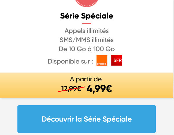 Série spéciale promo chez l'opérateur Prixtel.