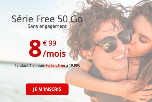 le forfait sans engagement 50 Go de Free