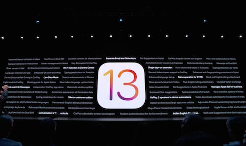 Lors de la WWDC 2019, Apple dévoile iOS 13