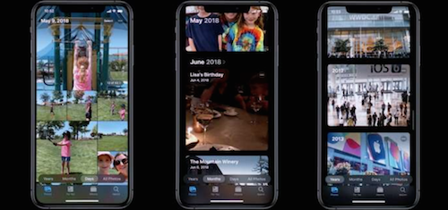 Apple annonce une galerie photo intelligente pour iOS13