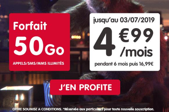 forfait 4G en promo chez NRJ mobile.