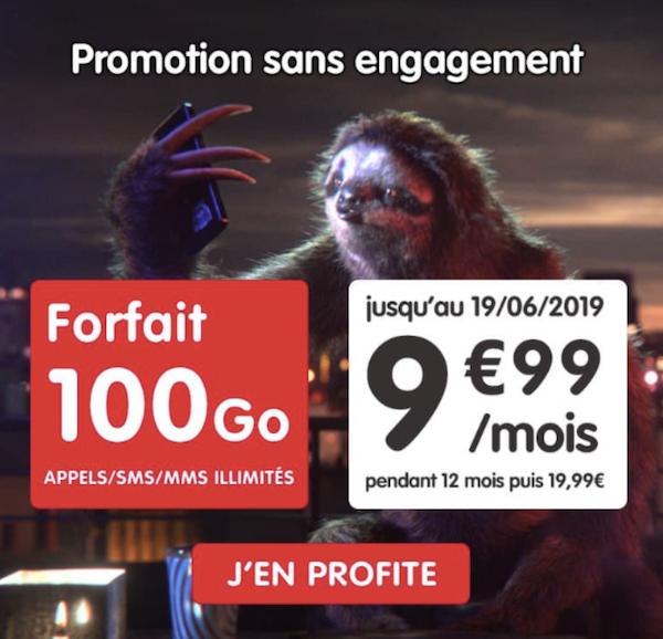 Un forfait sans engagement NRJ Mobile en promotion