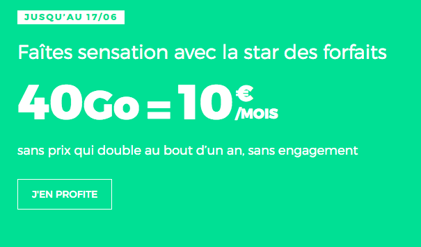 RED by SFR promotion forfait mobile 4G.