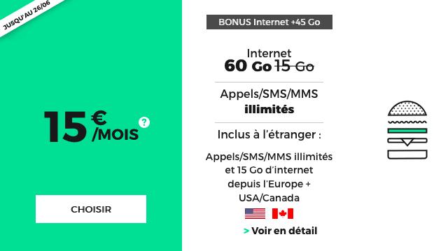 RED by SFR forfait mobile utilisable union européenne.