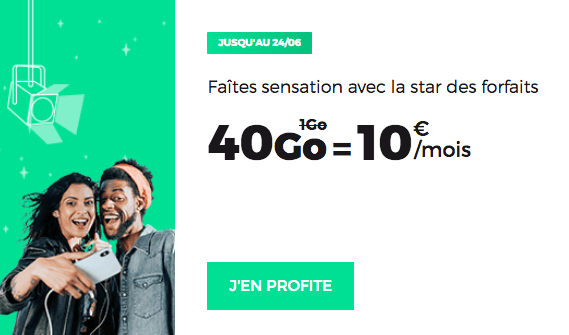 Promo RED by SFR forfait mobile.
