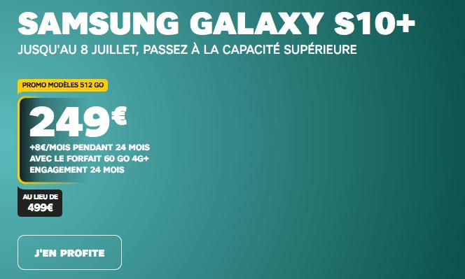 Samsun Galaxy S10+ en promo chez SFR.
