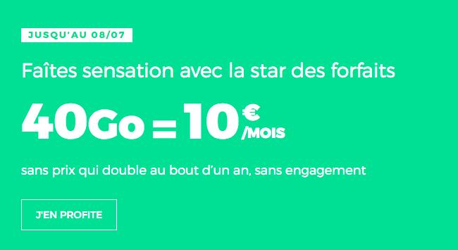 Forfait mobile illimité pas cher chez RED by SFR.